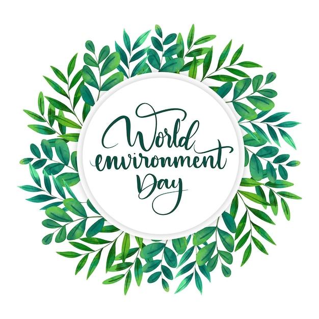 Concepto del día mundial del medio ambiente vector gratuito