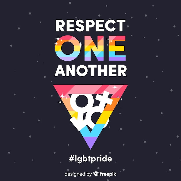 Concepto del día del orgullo lgbt vector gratuito