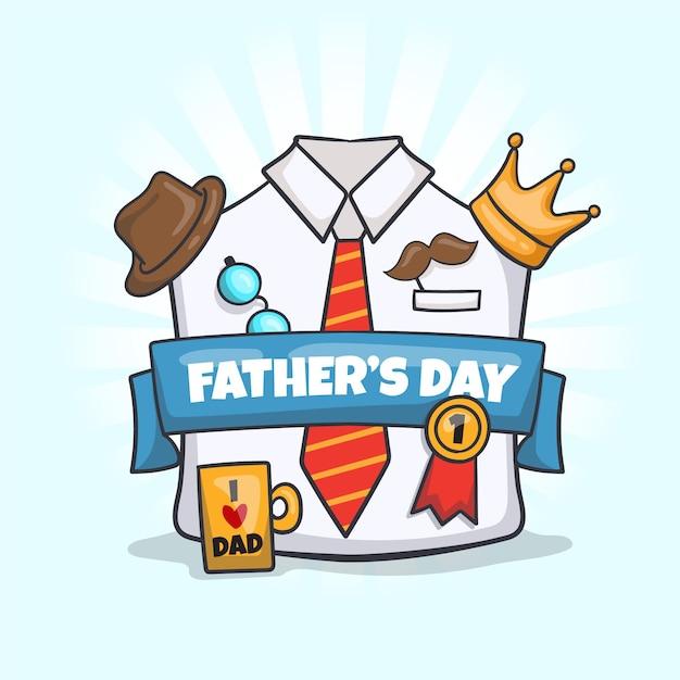 Concepto de día del padre dibujado a mano vector gratuito