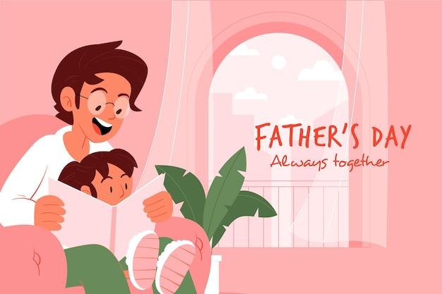Concepto de día de padres de diseño plano vector gratuito