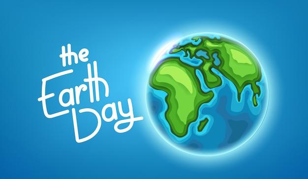 El concepto del día de la tierra. ilustración vectorial Vector Premium