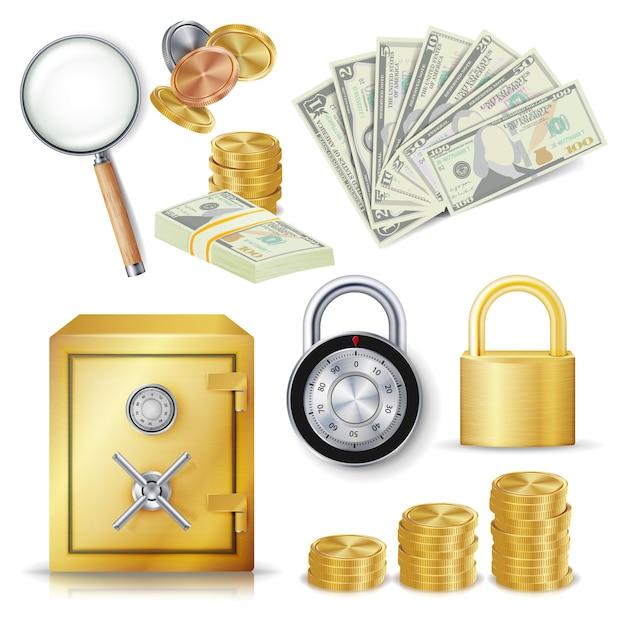 Concepto de dinero seguro Vector Premium