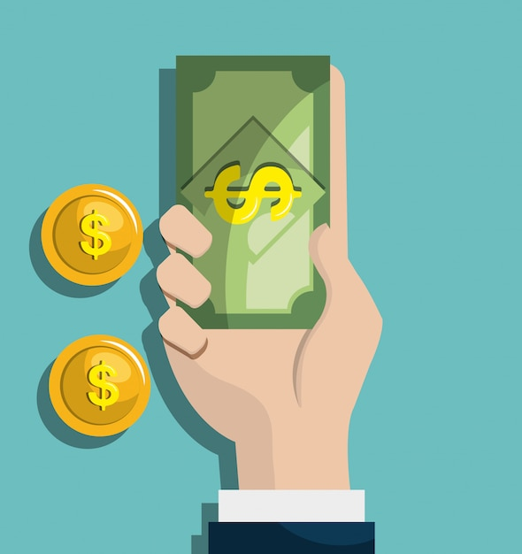 Concepto de dinero vector gratuito
