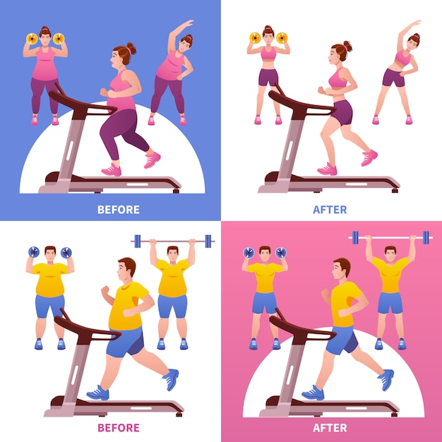 Concepto de diseño de fitness vector gratuito
