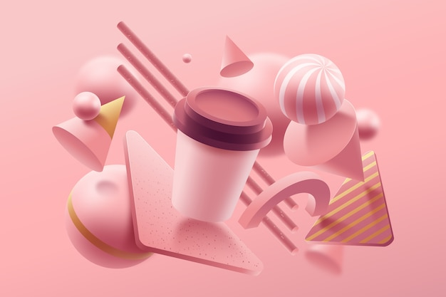 Concepto de diseño gráfico de colores pastel vector gratuito
