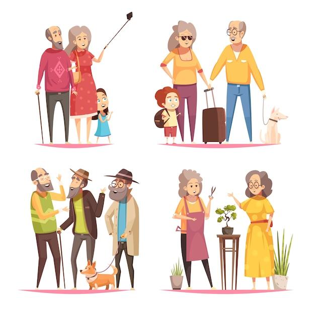 Concepto de diseño longevity 2x2 vector gratuito
