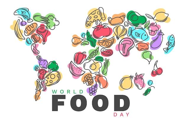 Concepto de diseño plano del día mundial de la alimentación vector gratuito