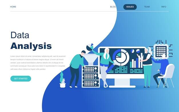 Concepto de diseño plano moderno de big data analysis Vector Premium