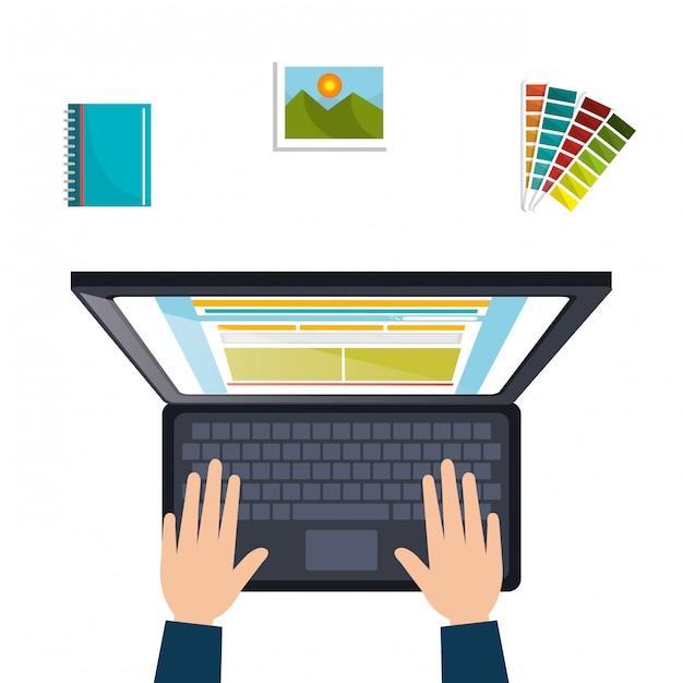 Concepto de diseño web vector gratuito