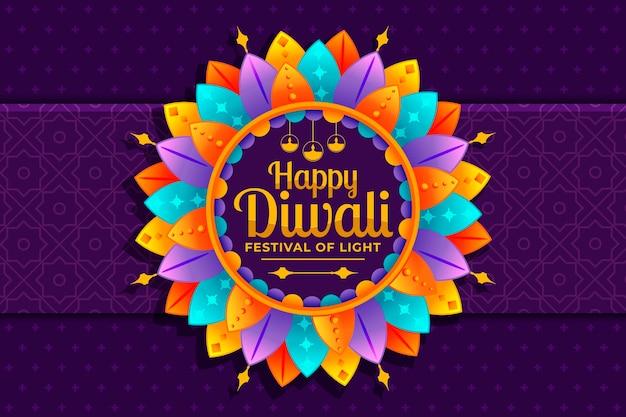Concepto de diwali en diseño plano vector gratuito