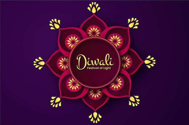 Concepto de diwali en estilo papel Vector Premium