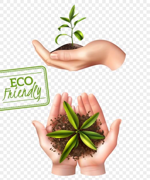 Concepto ecológico ecológico vector gratuito