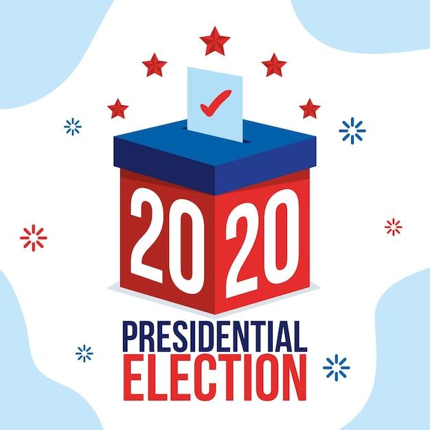Concepto de elección presidencial estadounidense de 2020 vector gratuito