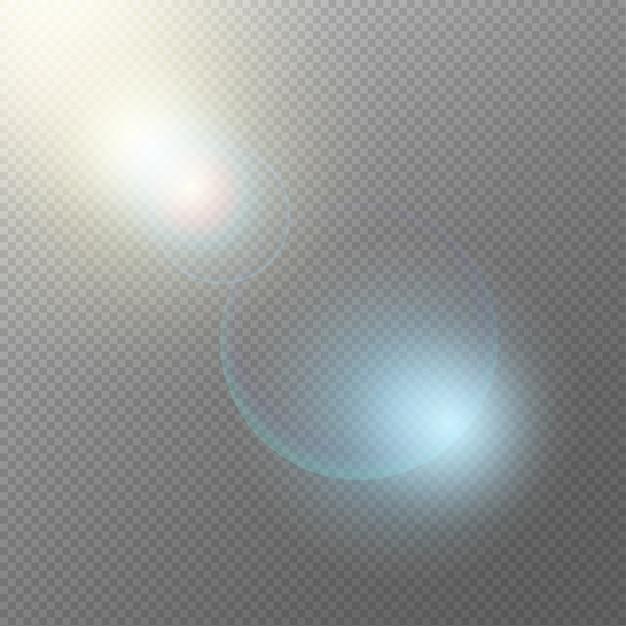Concepto de elementos de luz realista vector gratuito