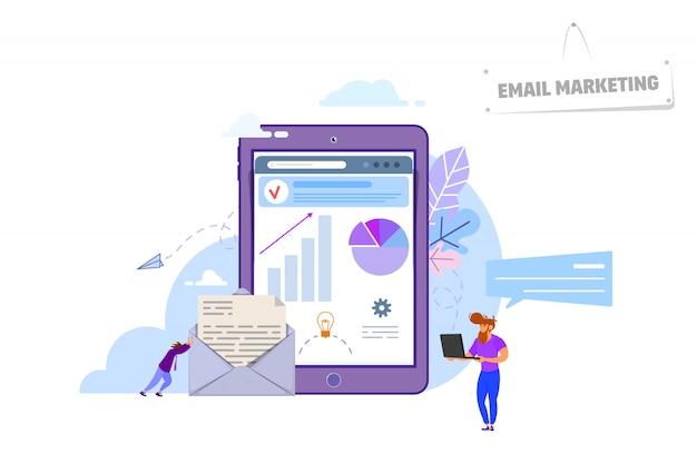 Concepto de email marketing Vector Premium