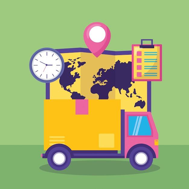 Concepto de entrega rápida vector gratuito