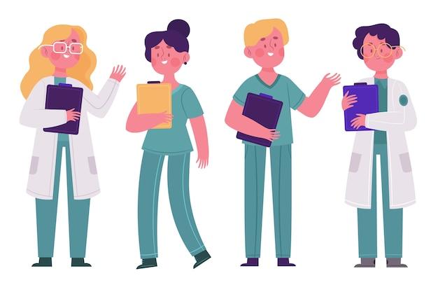 Concepto de equipo de profesionales de la salud Vector Premium