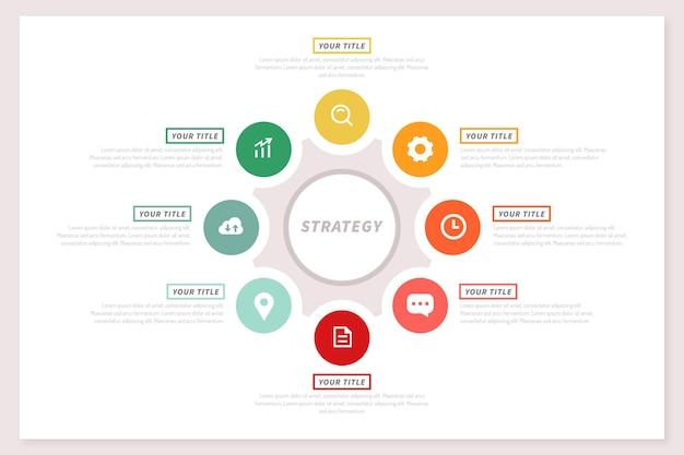 Concepto de estrategia de infografía vector gratuito