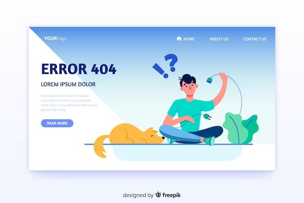Concepto de fallo técnico para landing page vector gratuito