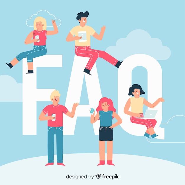 Concepto de faq vector gratuito