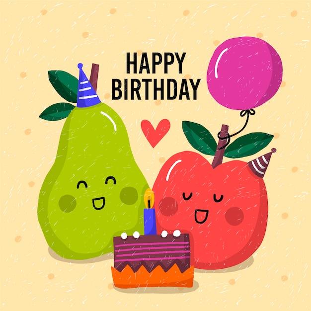 Concepto de feliz cumpleaños para niños vector gratuito