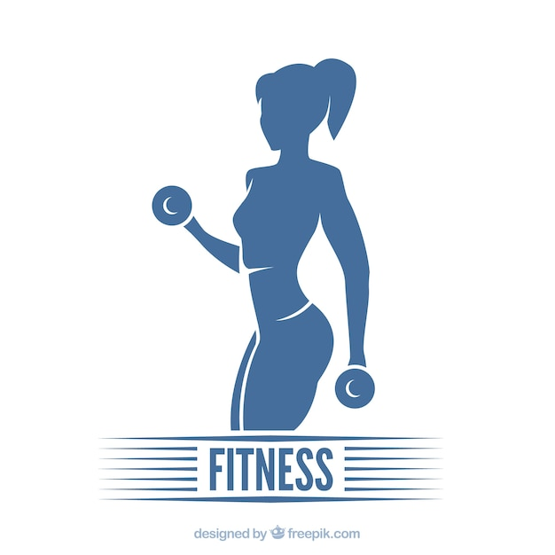 Concepto de fitness Vector Premium