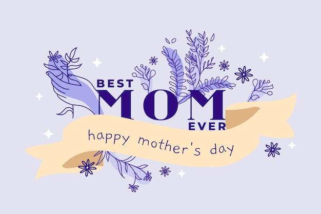 Concepto floral del día de la madre vector gratuito