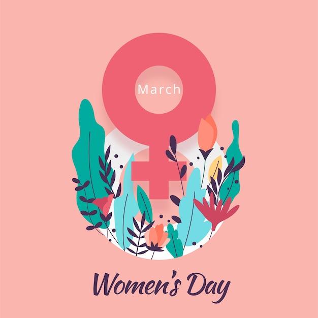 Concepto floral del día de las mujeres vector gratuito