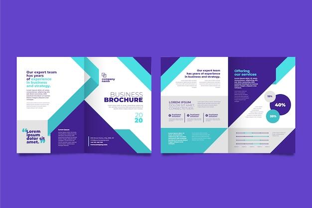 Concepto de folleto comercial Vector Premium