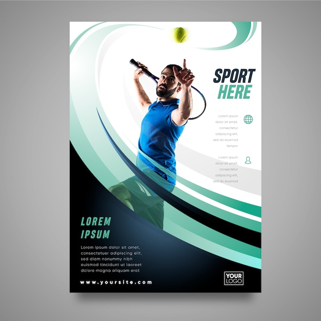 Concepto de folleto deportivo Vector Premium