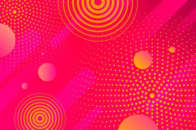 Concepto de fondo abstracto de semitono vector gratuito