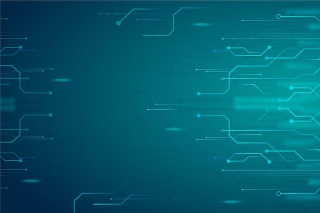 Concepto de fondo abstracto de tecnología Vector Premium
