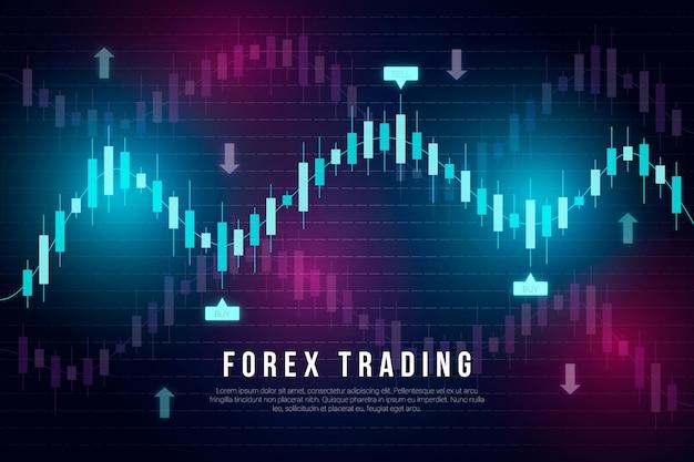 Concepto de fondo de compraventa de divisas Vector Premium
