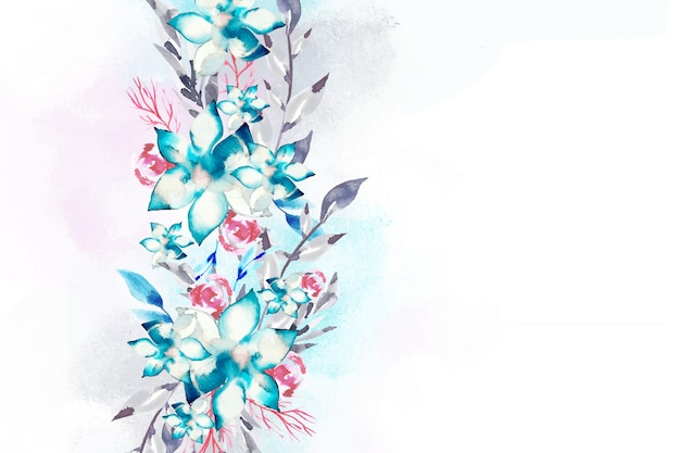 Concepto de fondo floral acuarela vector gratuito