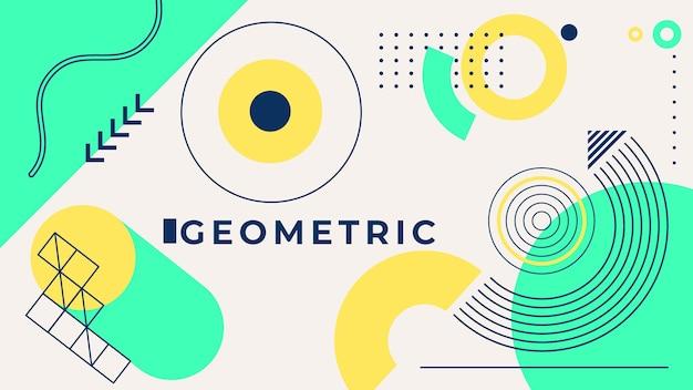 Concepto de fondo geométrico vector gratuito