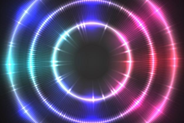 Concepto de fondo de luces de neón vector gratuito