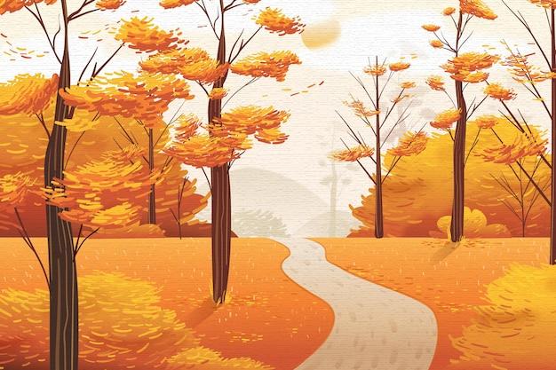 Concepto de fondo plano de otoño vector gratuito