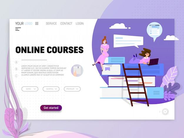 Concepto de formación en línea Vector Premium