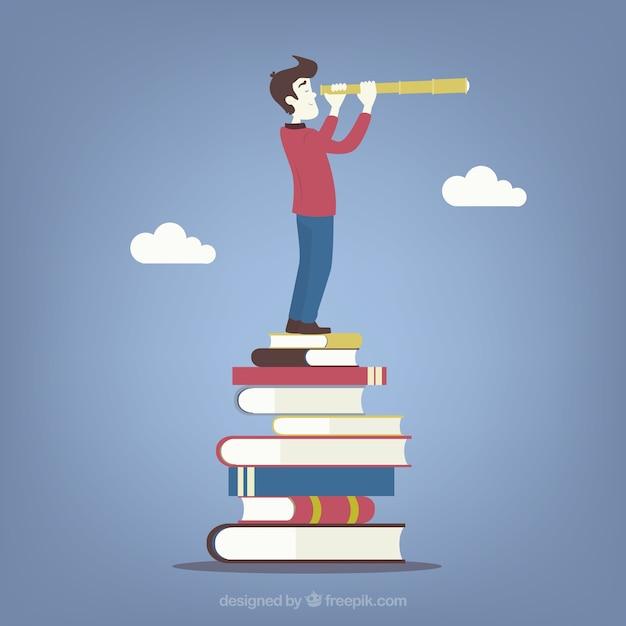 Concepto de futuro de educación vector gratuito