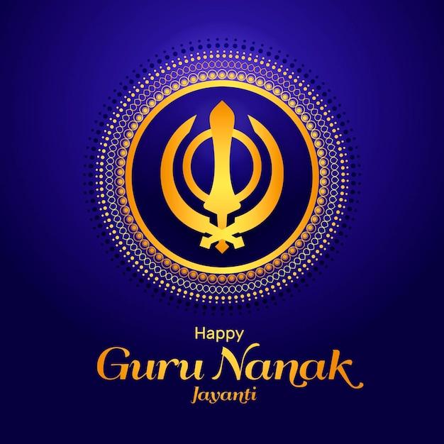 Concepto de guru nanak jayanti de diseño plano Vector Premium