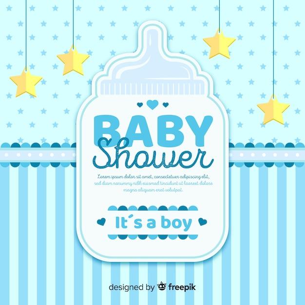Concepto hermoso de baby shower vector gratuito