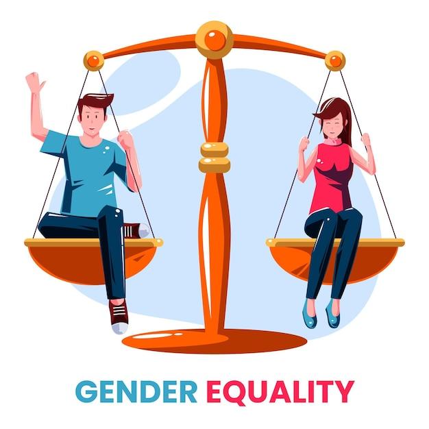 Concepto de igualdad de género vector gratuito