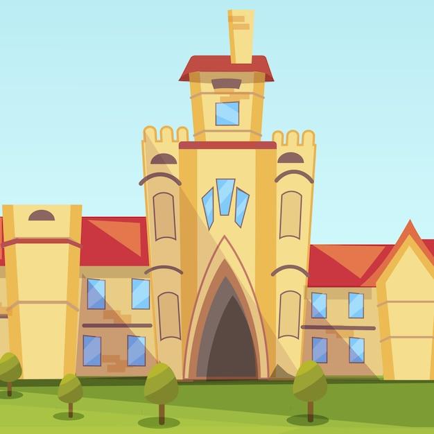 Concepto ilustración edificio instituto vector gratuito