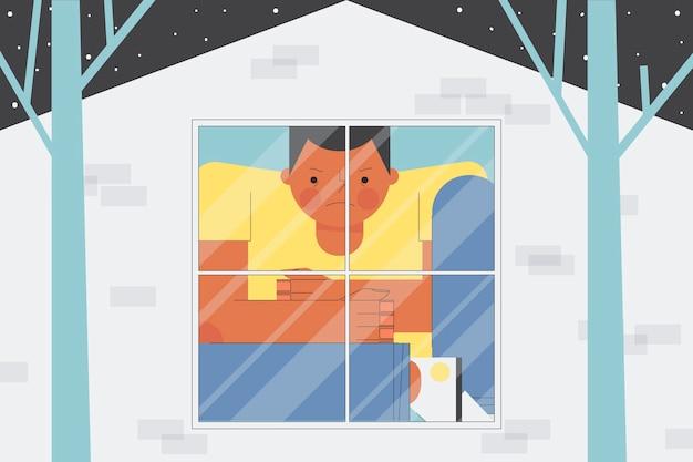 Concepto de ilustración de fiebre de cabina vector gratuito