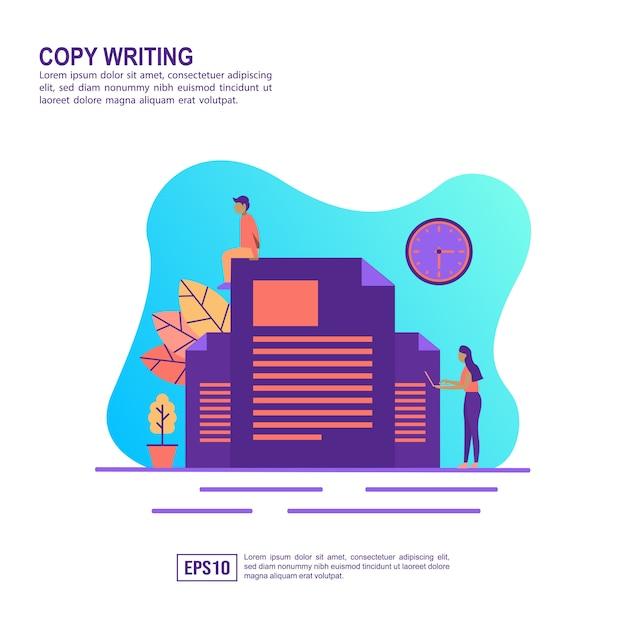 Concepto de ilustración vectorial de copia de escritura Vector Premium