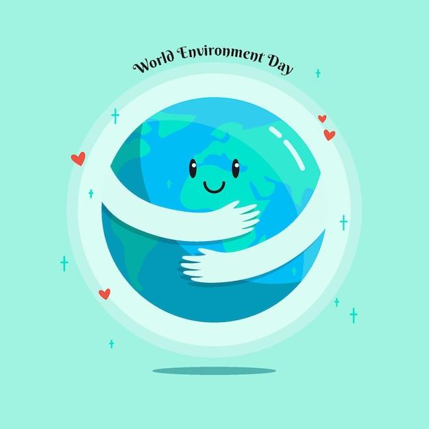 Concepto ilustrado del día mundial del medio ambiente vector gratuito