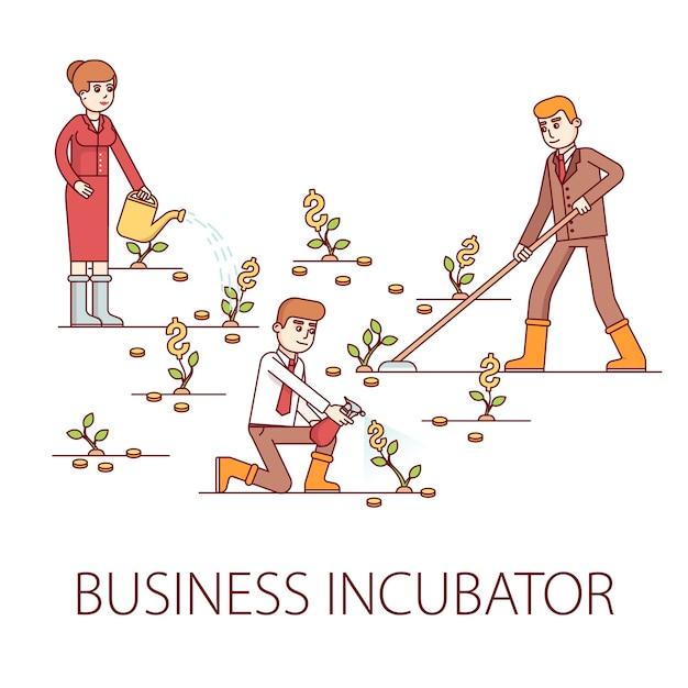 Concepto de incubadora de negocios vector gratuito