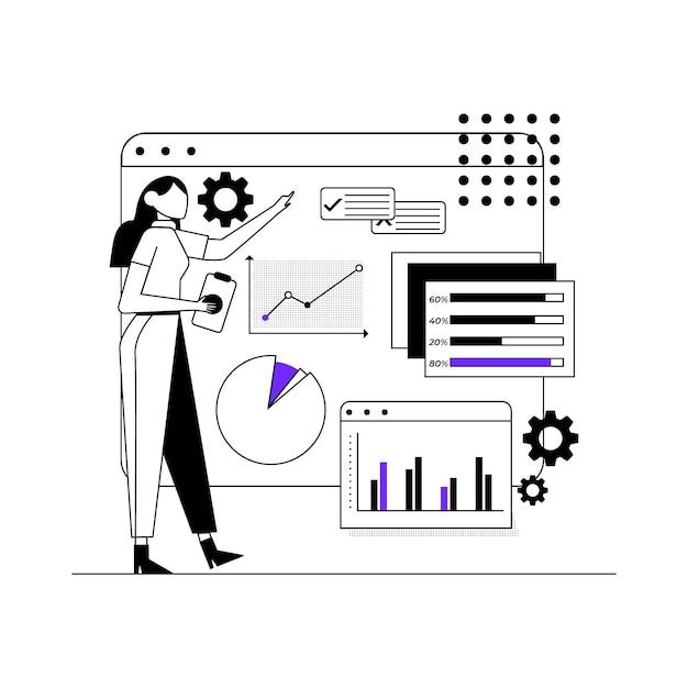 Concepto de infografía de datos comerciales vector gratuito