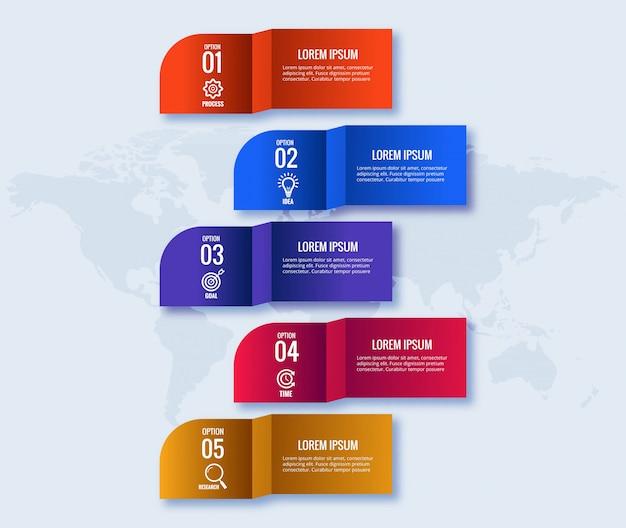 Concepto de infografía empresarial creativo vector gratuito