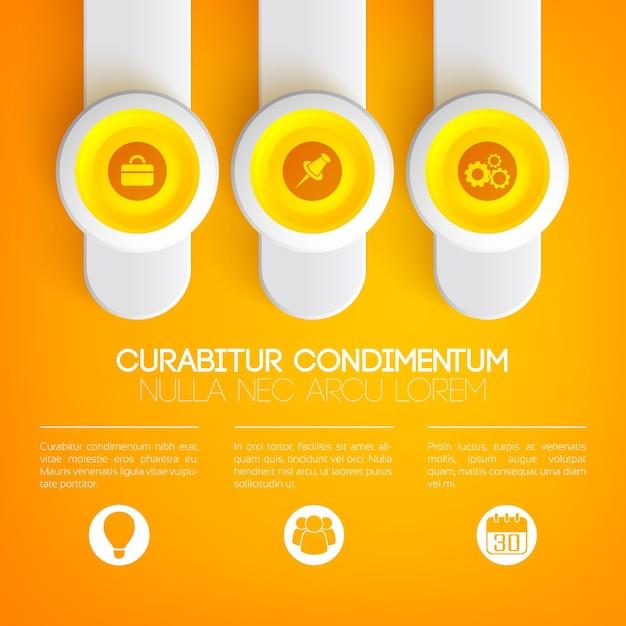 Concepto de infografía empresarial vector gratuito
